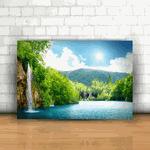 Placa Decorativa - Cachoeira Natureza