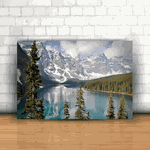 Placa Decorativa - Natureza Montanhas Neve
