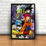 Placa Decorativa - Dragon Ball Super Personagens