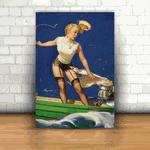 Placa Decorativa - Pin-up Barco