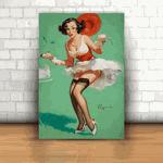 Placa Decorativa - Pin-up Candy Girl