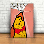 Placa Decorativa - Ursinho Puff