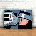 Placa Decorativa - Robocop Bebendo