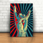 Placa Decorativa - Rock and Roll