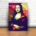 Placa Decorativa - Monalisa Color