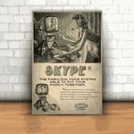 Placa Decorativa - Skype