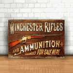 Placa Decorativa - Winchester Rifles