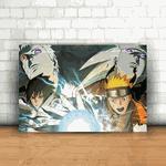 Placa Decorativa - Naruto Uzumaki e Obito Uchiha