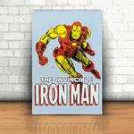 Placa Decorativa - Homem de Ferro Quadrinhos
