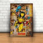 Placa Decorativa - Wolverine Quadrinhos