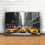 Placa Decorativa - Táxi Nova York