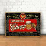Placa Decorativa - Brahma Chopp Retrô