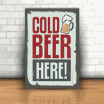 Placa Decorativa - Cerveja Gelada