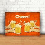 Placa Decorativa - Cheers (Brinde)