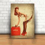 Placa Decorativa - Coca Cola Pin up