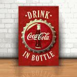 Placa Decorativa - Coca Cola Garrafa Retrô
