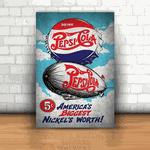Placa Decorativa - Pepsi Cola Retrô