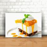 Placa Decorativa - Torta Manga, Queijo e Chocolate