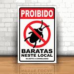 Placa Decorativa - Proibido Barata