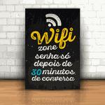 Placa Decorativa - Wifi depois