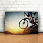 Placa Decorativa - Mountain Bike Pôr do Sol