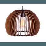 Pendente de Madeira Wood Ball 28cm 1E27 3D