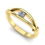 Anel Solitário de Diamante Diadema