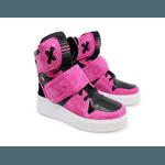 Sneaker Para Academia e Dançar Rosa Pink com Preto