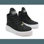 Tênis Sneaker Crossfit Jeans Destroyed Preto