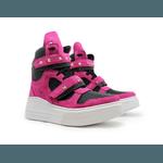 Tênis Sneaker Crossfit Preto Com Rosa Pink