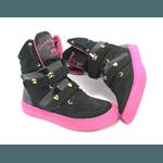 Bota Feminina De Treino Preto Com Rosa Pink