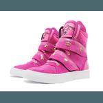 Tênis Sneaker Cano Alto Cheia De Marra Rosa Fúcsia
