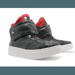 Tênis Sneaker Fitness Preto Vermelho