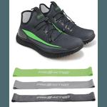 Tênis de Corrida Verde Neon Iron Flex + Kit Mini Bands Diferentes Tensões