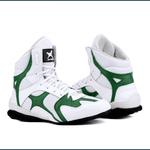 Bota Sporting Fitness Mr. Gutt em Couro Legítimo - Branco/Verde