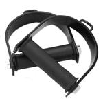 Puxador Duplo Crossover Estribo Simples Musculação Academia - Preto