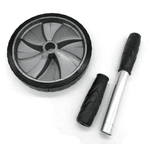 Roda Abdominal Exercícios Lombar Funcional Academia - Preto