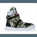 Tênis Bota Treino Sneaker Feminino Fitness Academia Exército