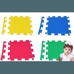 Kit 16 Placas Tatame Eva 50x50x1cm Tapete Infantil Colorido