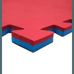 Kit 30 Tatame Piso Eva Tapete De Encaixe 100x100x2cm Vermelho/Azul