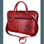 Pasta executiva EM COURO - Modelo capa notebook - Vermelha Personalizada.