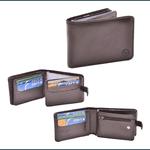Carteira de couro 100% bovino porta cartões e cheques Rg e documentos