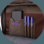 Mochila de Couro Vintage + Kit de Higienização para Couro