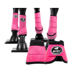 Kit Completo Cloche e Caneleiras Color Pink Boots Horse 4369