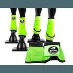 Kit Completo Cloche e Caneleiras Color Verde Limão Boots Horse 4370