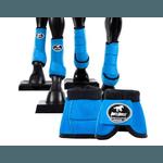 Kit Completo Cloche e Caneleiras Color Azul Turquesa Boots Horse 4372