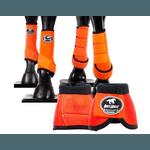 Kit Completo Cloche e Caneleiras Color Laranja Boots Horse 4373