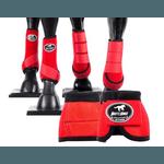 Kit Completo Cloche e Caneleiras Color Vermelho Boots Horse 4375