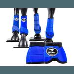 Kit Completo Cloche e Caneleiras Color Azul Royal Boots Horse 4376