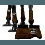 Kit Completo Cloche e Caneleiras Color Marrom Boots Horse 4378